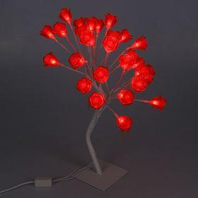 """Светодиодный куст улич. 0.45 м, """"Розы"""", 28 LED, 220V, КРАСНЫЙ"""