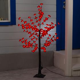 """Светодиодный куст улич. 1.2 м, """"Цветы"""", 120 LED, 220V, 4 режима, КРАСНЫЙ"""