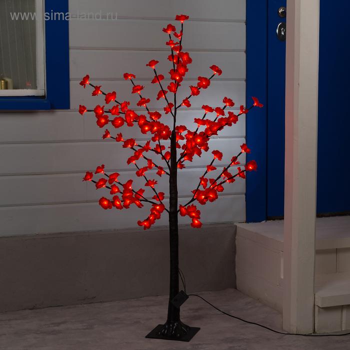 """Светодиодный куст улич. 1,2 м, """"Цветы"""", 120 LED, 220V, контроллер 4 режима КРАСНЫЙ"""