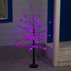 """Светодиодный куст улич. 1.2 м, """"Цветы"""", 120 LED, 220V, РОЗОВЫЙ"""