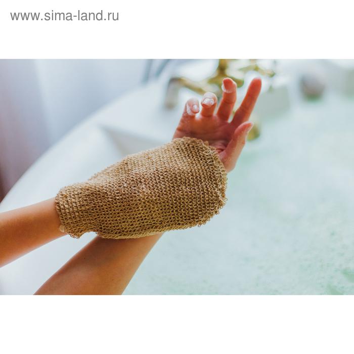 Washcloth mitten massage