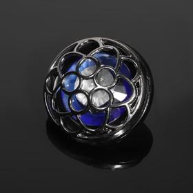 """Button decorative """"Flower"""", d=38mm, color black"""