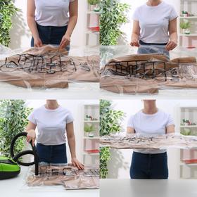Вакуумный пакет для хранения одежды с крючком 67×110 см