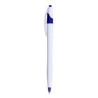 Ручка шариковая автоматическая Лого корпус белый с синим стержень синий 0,5мм CALLIGRATA