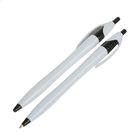 Ручка шариковая, автоматическая, корпус белый с чёрным, стержень синий 0.5 мм