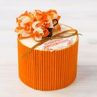 "Box - straw ""Mommy, I love you"", round, orange"