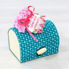 """The box - cut fries """"the Most sweet and gentle!"""", trunk, turquoise"""