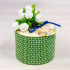 "Box - straw ""Most beloved and mother"" round green"
