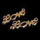 "Коннектор ""Love"" (набор 2шт) 6730, цвет золото"