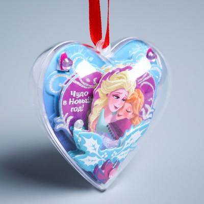 """Новогодний ёлочный шар """"Волшебства!"""" Холодное сердце с 3D аппликацией"""