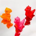 Набор пищалок для ванны «Динозаврики», 3 шт., цвета МИКС