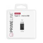 Адаптер Prime Line (7300), micro USB -Type C, черный