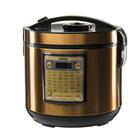 Мультиварка Centek CT-1495, 5 л, 900 Вт, 42 программы + мультишеф, черная/золотая