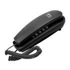 Телефон Ritmix RT-005, набор номера на базе, трубка с проводом, черный