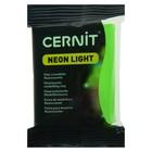 Полимерная глина запекаемая, Cernit Neon, 56 г, зелёная, №600
