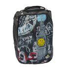 Рюкзак молодежный эргономичная спинка Proff Smiley Boy 41*28*17 см, 2 отделения, чёрный
