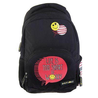 Рюкзак школьный Proff Smiley Girl 39*28*16 см, 1 отделение, чёрный