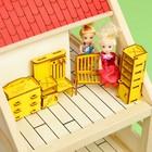 """Набор кукольной мебели с гравировкой """"Прихожая"""", цвет МИКС"""