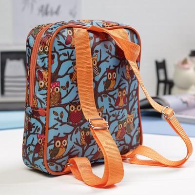 Рюкзак детский на молнии, 1 отдел, наружный карман, цвет голубой/разноцветный