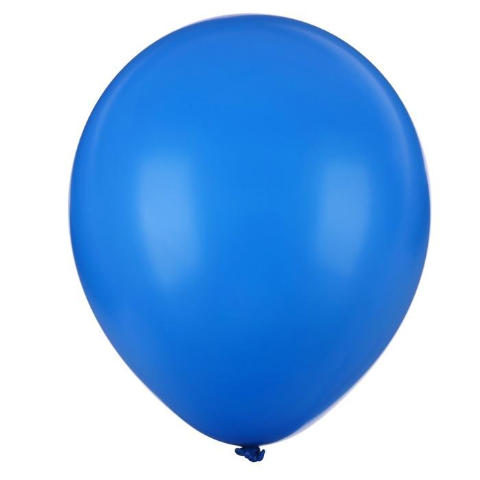 """Шар латексный 10"""", пастель, набор 25 шт., цвет синий"""