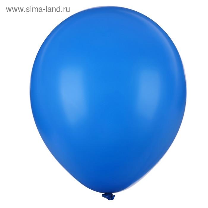 "Latex balloon 10"", pastel, set of 25 PCs, blue color"
