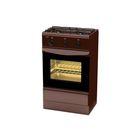 Плита газовая Лада GP 5203 Br, 2 конфорки, 35 л, газовая духовка, коричневая