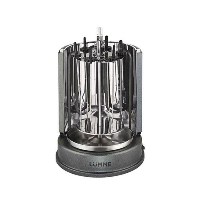 Шашлычница электрическая Lumme Lu-1270, 1400 Вт, 7 шамп, подходит для целой курицы-гриль