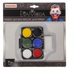 Набор детских красок для грима 6 цв; 9г, аппликатор, спонж