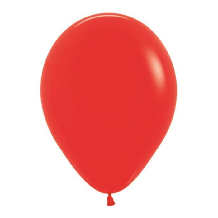 """Шар латексный 10"""", пастель, набор 25 шт., цвет красный"""