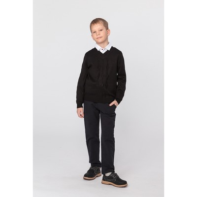 Джемпер для мальчика, рост 146 см, цвет чёрный 644