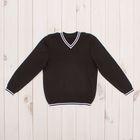 Джемпер для мальчика, рост 140 см, цвет чёрный 645