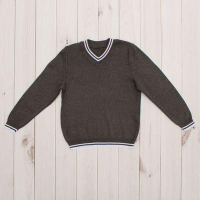 Джемпер для мальчика, рост 152 см, цвет тёмно-серый 645