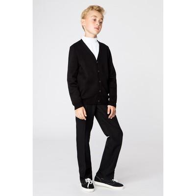 Жакет для мальчика, рост 146 см, цвет чёрный 647