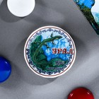"Magnet-plate ""Ural. The edge of the malachite"", 5.5 cm, ceramic, decal"