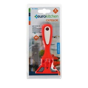 Скребок для стеклокерамических плит Euro Kitchen цвет красный/белый, 1 шт(+ 3 лезвия)