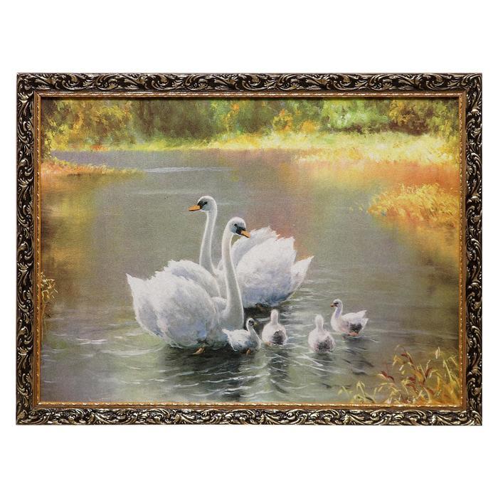 "Гобеленовая картина ""Белые птицы"" 64х84 см"