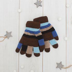 Перчатки детские Collorista, размер 16, цвет коричневый