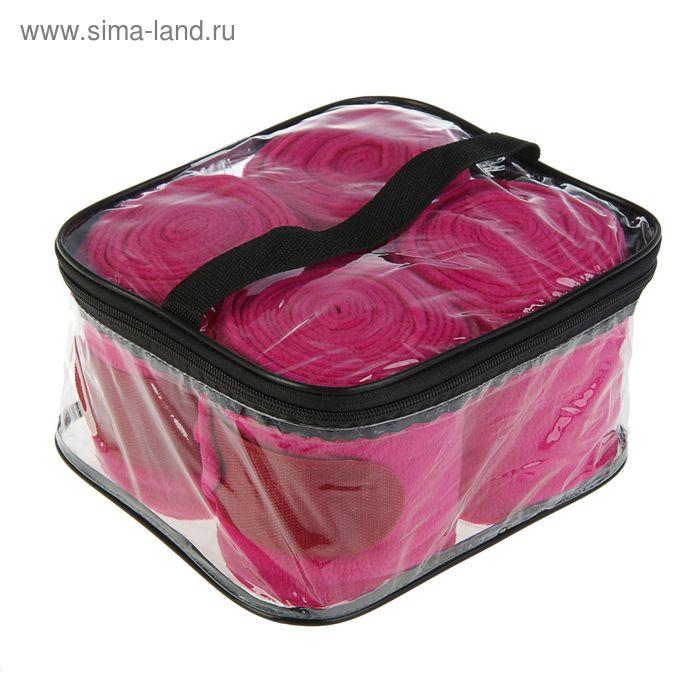 Бинты флисовые, 4 шт, розовые