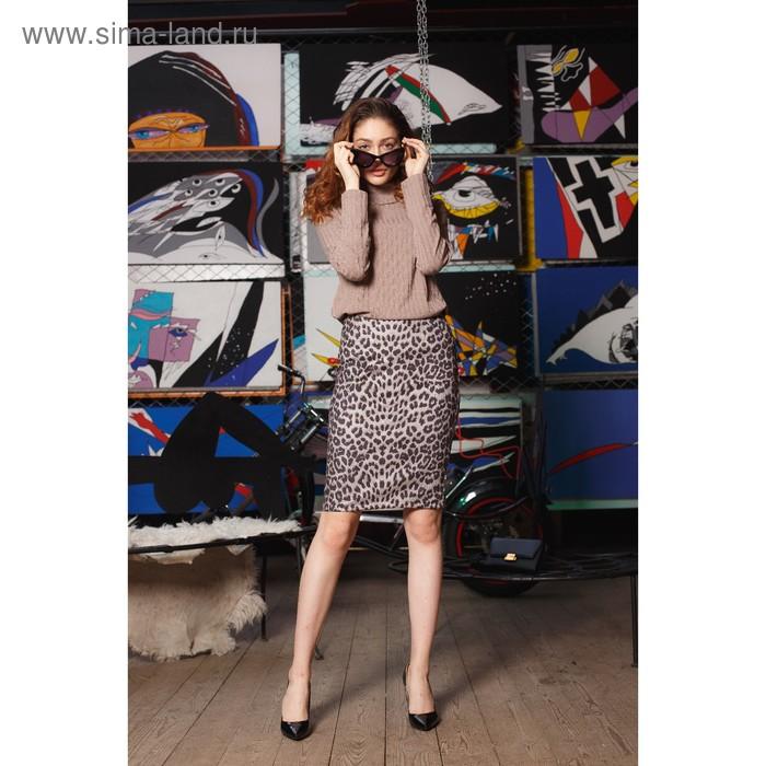 Джемпер женский, размер 48, рост 164 см, цвет бежевый 6207