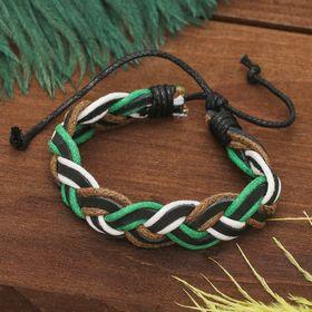 """Bracelet leather """"Cable"""" volume, colour"""