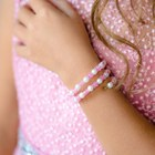 "Bracelet spring baby ""Vibracula"" flowers of crystal, color pink and white"
