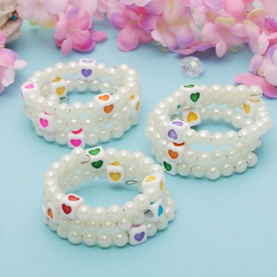"""Bracelet spring baby """"Vibracula"""" hearts in the cube, MIX color"""