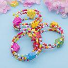 """Браслет-пружинка детский """"Выбражулька"""" 3 ряда, цветы в горошек, разноцветный"""