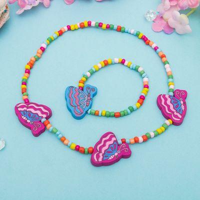 """Набор детский """"Выбражулька"""" 2 предмета: бусы, браслет, бабочек крылышки, цвет МИКС"""