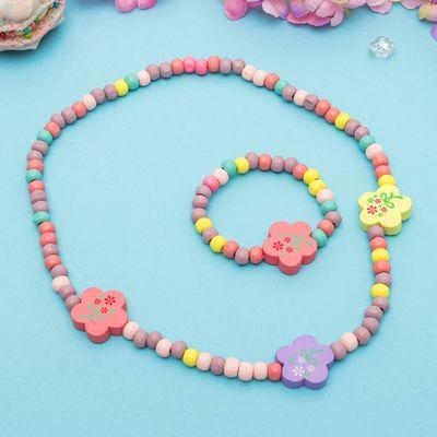 """Набор детский """"Выбражулька"""" 2 предмета: бусы, браслет, шестицветик, цвет МИКС"""