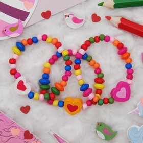 Браслет детский 'Выбражулька' сердце на радуге, цвет микс Ош