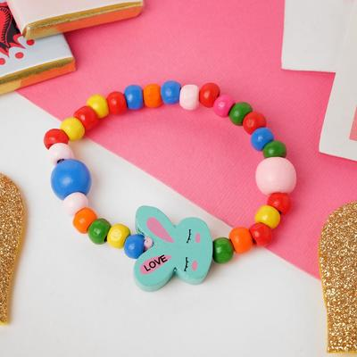 "Bracelet child ""Vibracula"" sleepy Bunny on the rainbow MIX color"