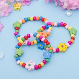 """Браслет детский """"Выбражулька"""" цветы радужные, цвет МИКС в Донецке"""