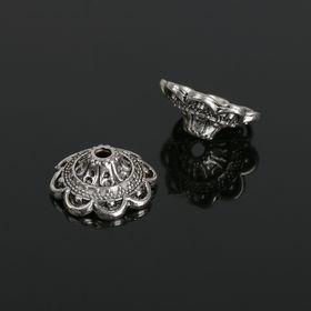 Шапочки для бусин (набор 10шт), 6х13,5 мм, цвет черненое серебро в Донецке