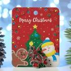 """Брошь """"Новогодняя сказка"""" колокольчики рождественские, цвет красно-зеленый в черненом серебре"""